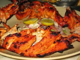 دجاج التندورى الهندى المشوي مع الارز بالتفاصييل والصور