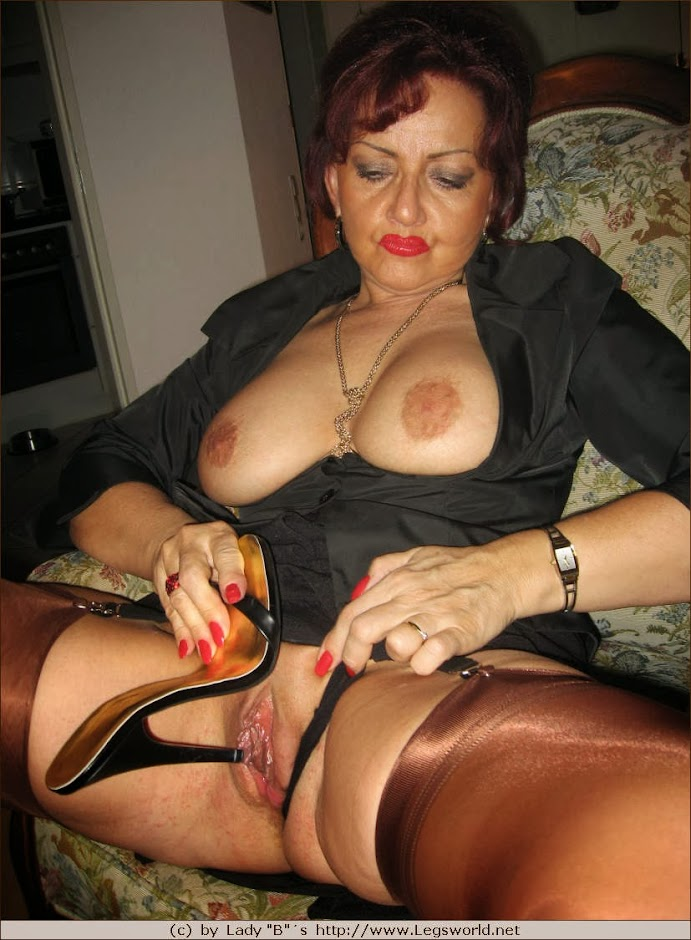 milf stockings cock