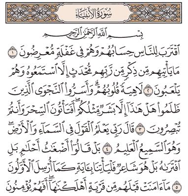 Tafsir Surat Al-Anbiya'  Ayat 1, 2, 3, 4, 5