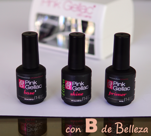 Base y brillo manicura permanente