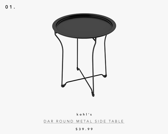 5 UNDER $70: Modern Accent Tables | dar round metal side table