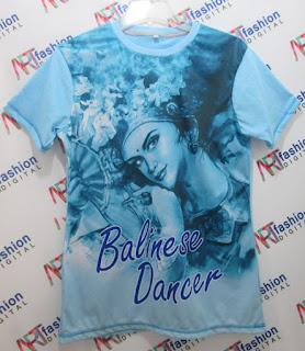 Kaos Oblong Balinese Dancer Biru