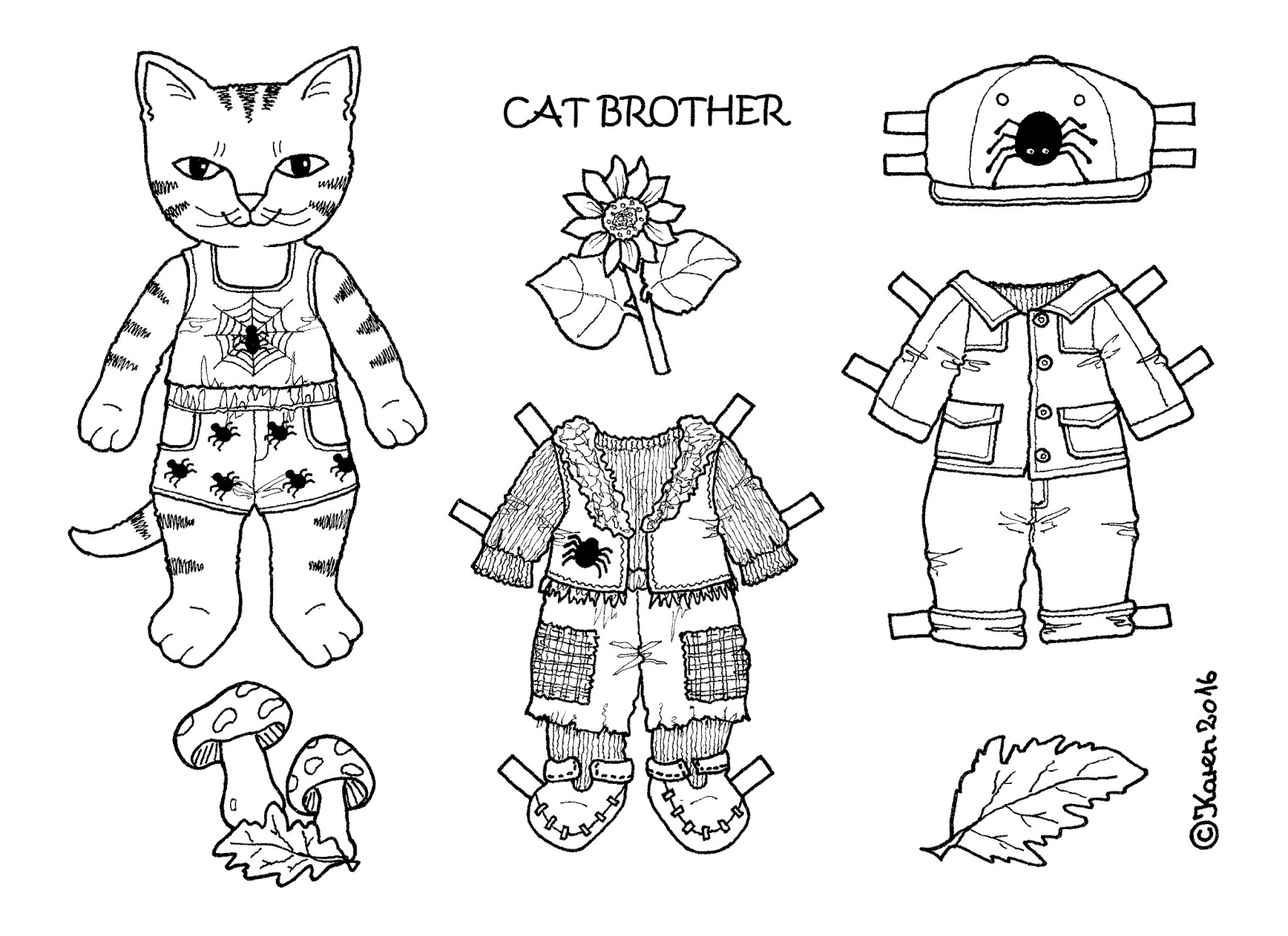 Karen S Paper Dolls Cat Brother 1 3 Paper Doll To Print