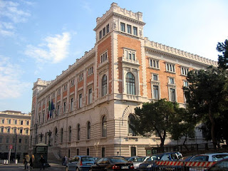 The rear facade of the Palazzo Monticiterio, which was almost completely rebuilt by Ernesto Basile