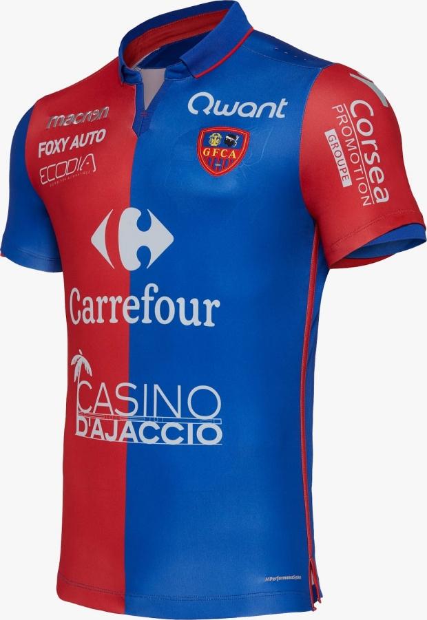 Macron lança as novas camisas do Gazélec Ajaccio - Show de Camisas e88e46b2b40ca