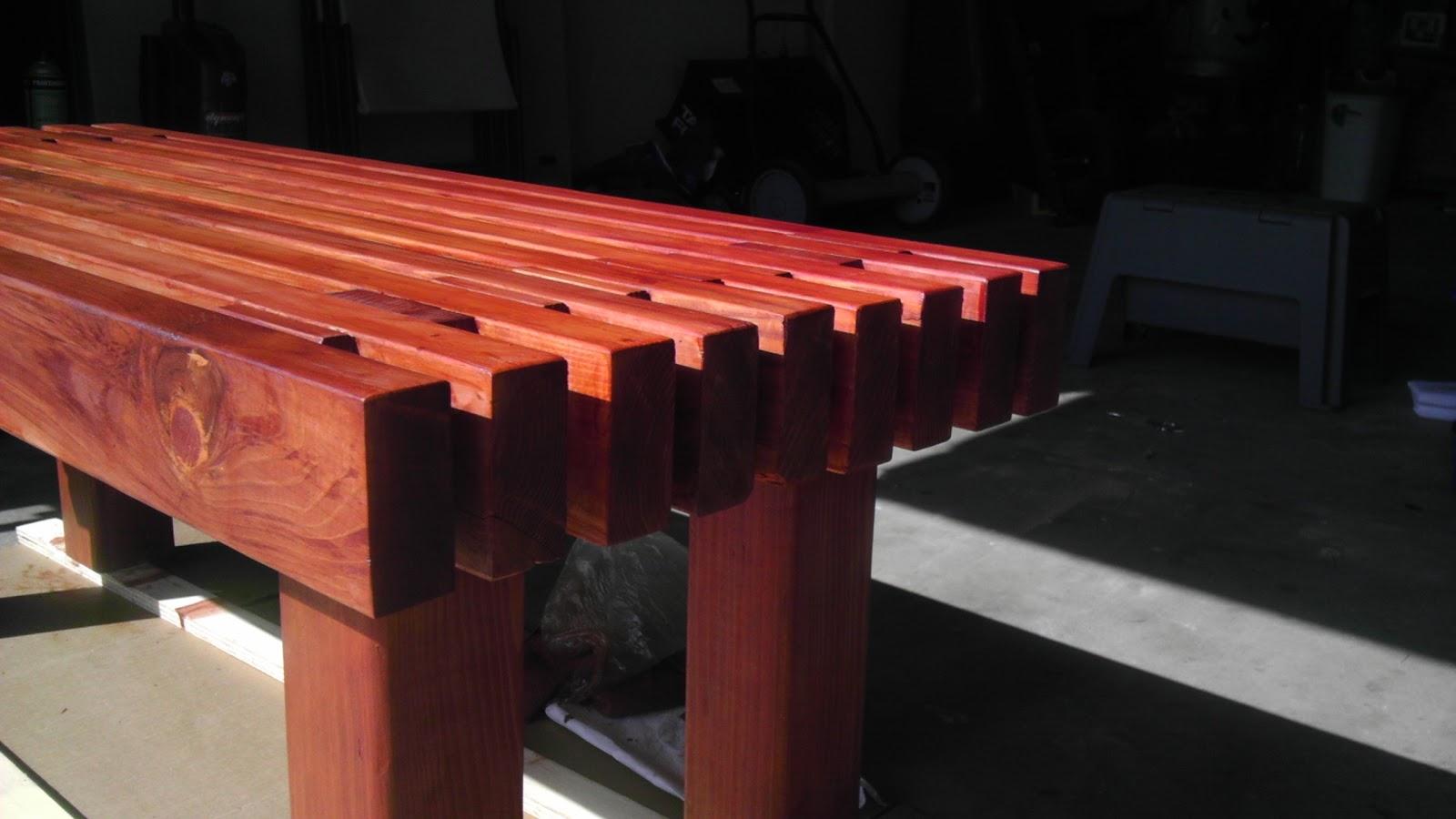 Diy Redwood Garden Bench