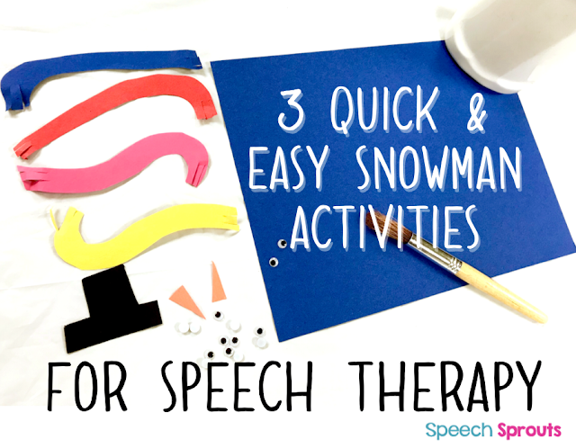 Easy Snowman Activities for Speech Therapy: Crafts and Game