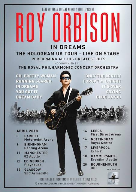 Resultado de imagem para Turnê com holograma de Roy Orbison