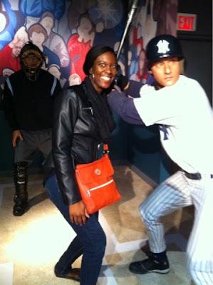 Derek Jeter at Madam Tussauds wax museum - @arelaxedgal