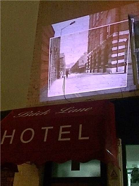 projector image of old london