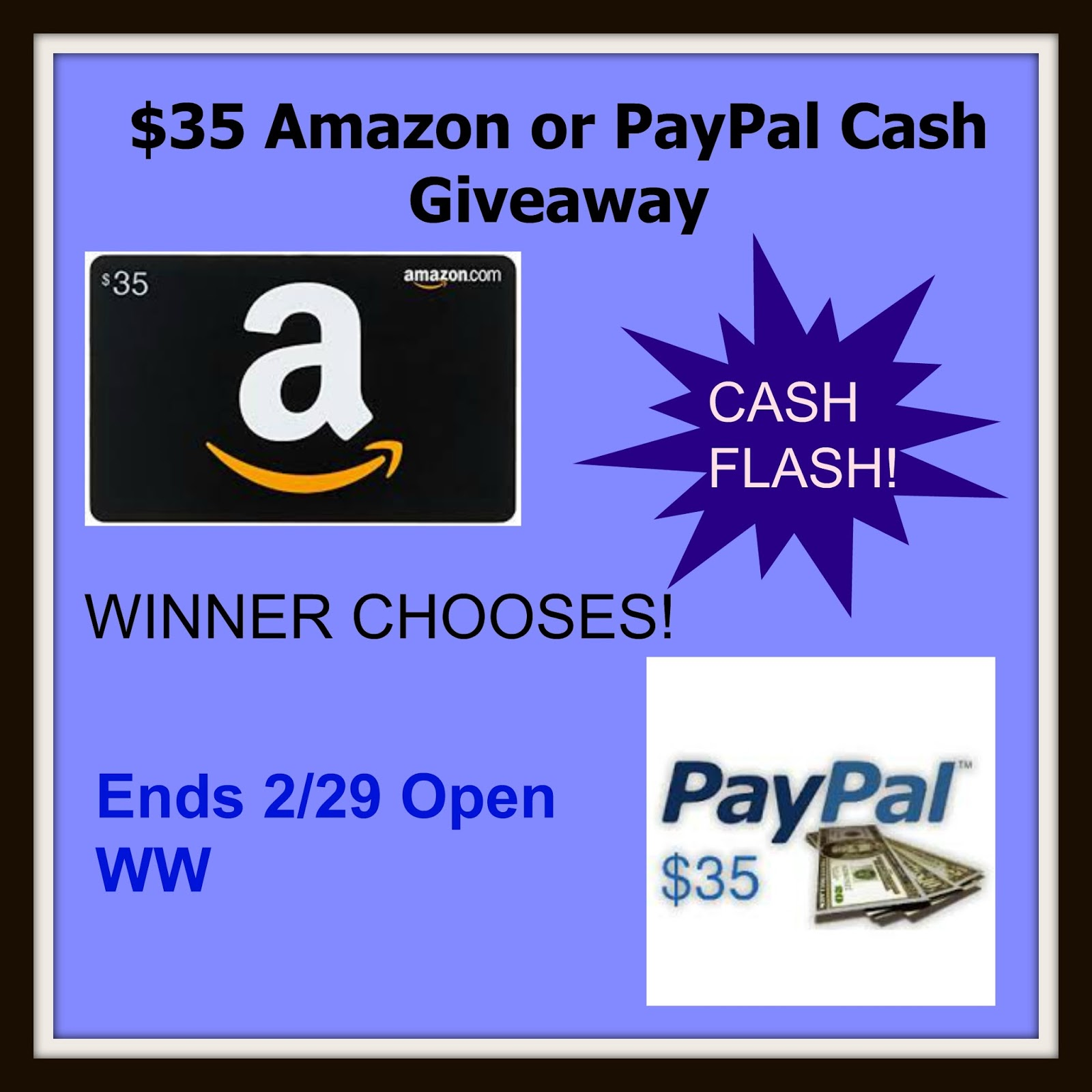 Top Notch Material: $35 Amazon or PayPal Cash Flash Giveaway