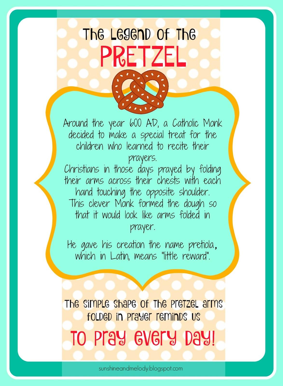legend of the pretzel printable