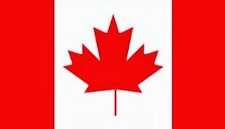 Dibujo de la bandera de Canadá a colores
