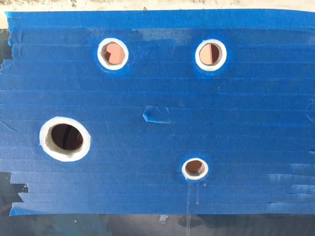 Maskert og klar for montering av Trudesgn gjennomføringer