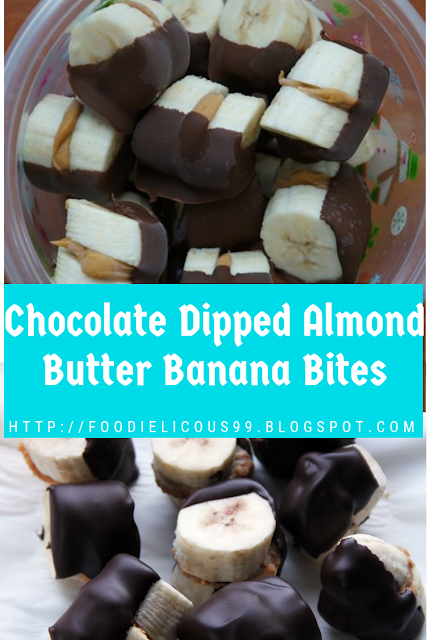 Chocolate Dipped Almond Butter Banana Bites