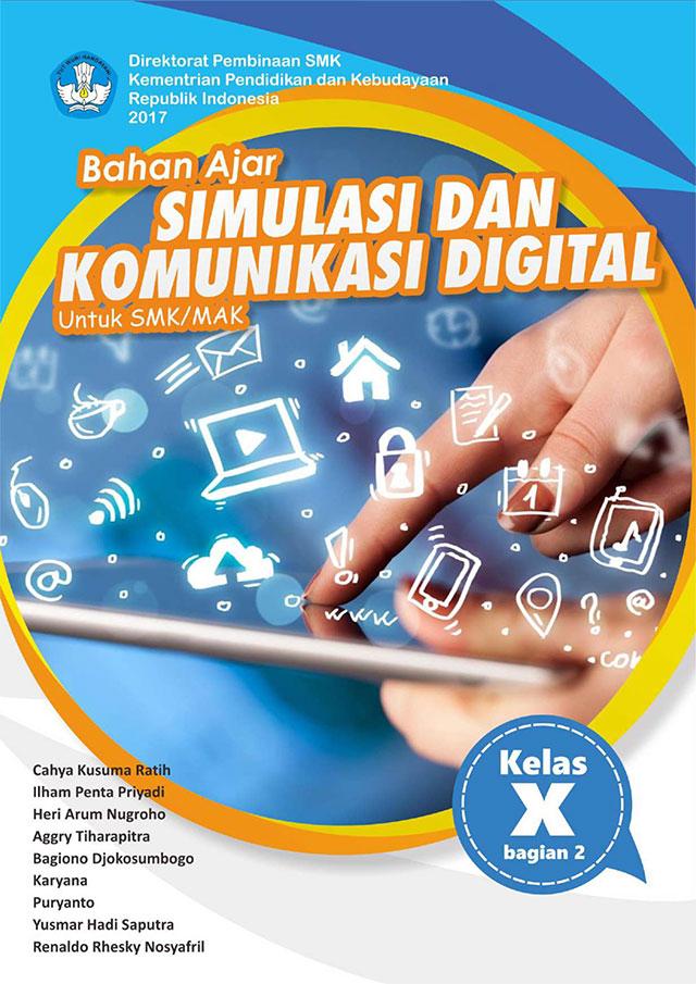 sampul buku bahan ajar simulasi dan komunikasi digital semester 2