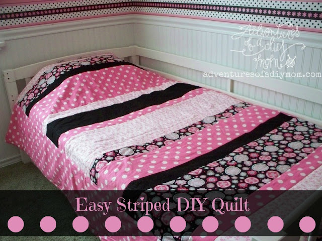 How to make a striped quilt