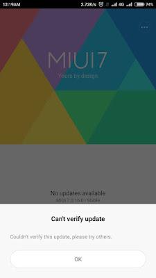 Muncul Pesan Can't Verify Update Keitika Install Update Rom Di Redmi Note 3? Ini Solusi Tepat Tutorialnya