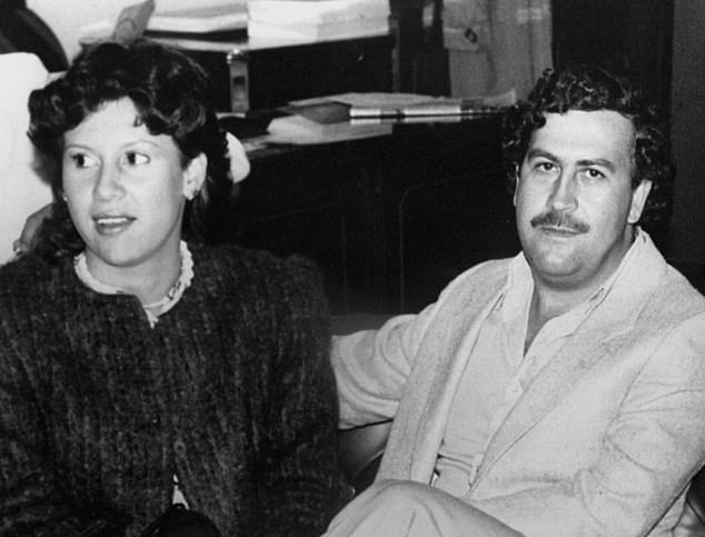 Pablo Escobar, pictured with his wife Victoria Eugenia Henao