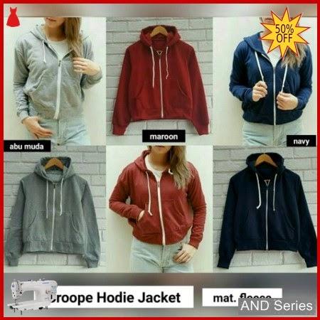 AND013 Jaket Wanita Croope Hoodie Jacket BMGShop