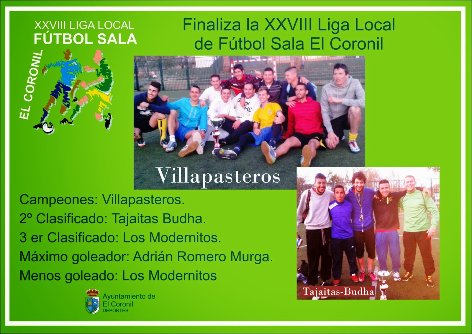 Deportes el coronil finaliza la liga local de f tbol sala for Federacion de futbol sala