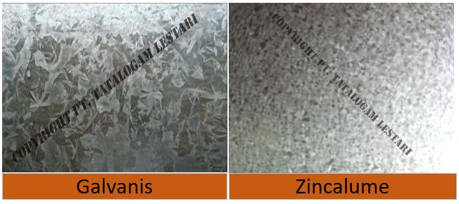 Perbedaan Baja Ringan Galvanis Dan Zincalum Taso Genteng Metal Simantap Zincalume