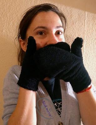 Adzik tworzy - DIY rękawiczki ze ścinek