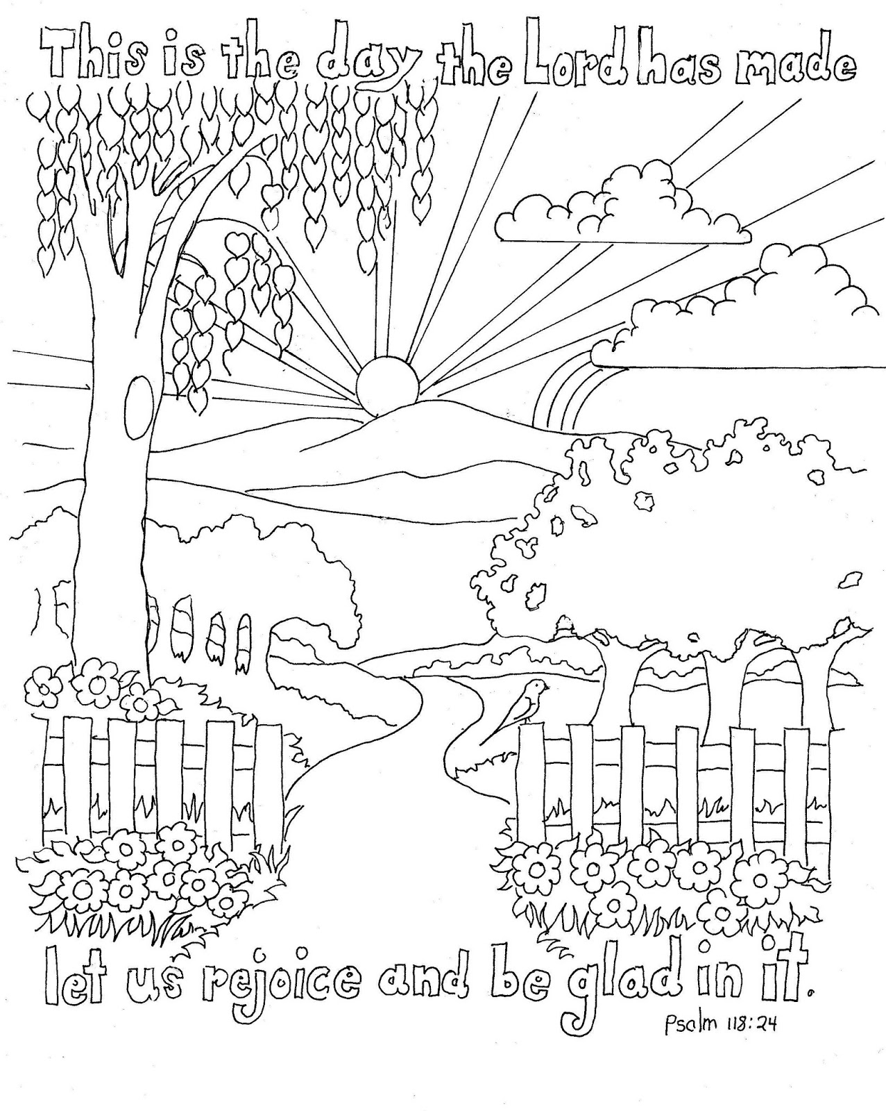 Rejoice In The Lord Coloring Page Coloring Pages