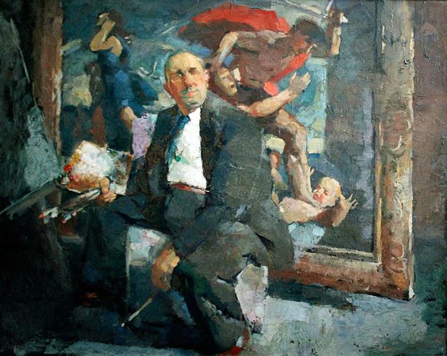 Henri Borde, Self Portrait, Portraits of Painters, Fine arts, Portraits of painters blog, Paintings of Henri Borde, Painter Henri Borde