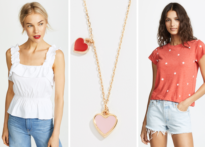 wildfox star tee heart necklace
