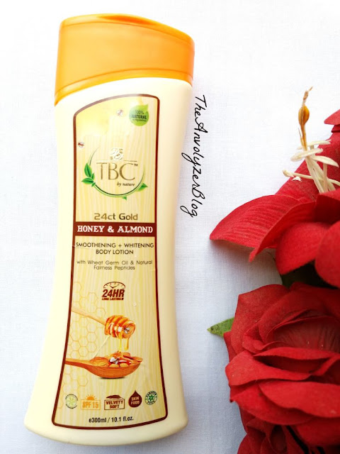 Review of 24ct Gold Honey & Almond Smoothening and Whitening Body Lotion By TBC By Nature