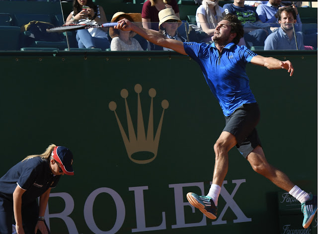 photograph of Frenchman Gilles Simon at the Monte-Carlo Rolex Masters 2016
