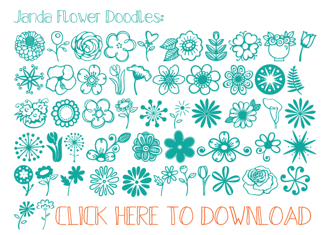 Free Summer Doodles and Dingbats | i should be mopping the floor