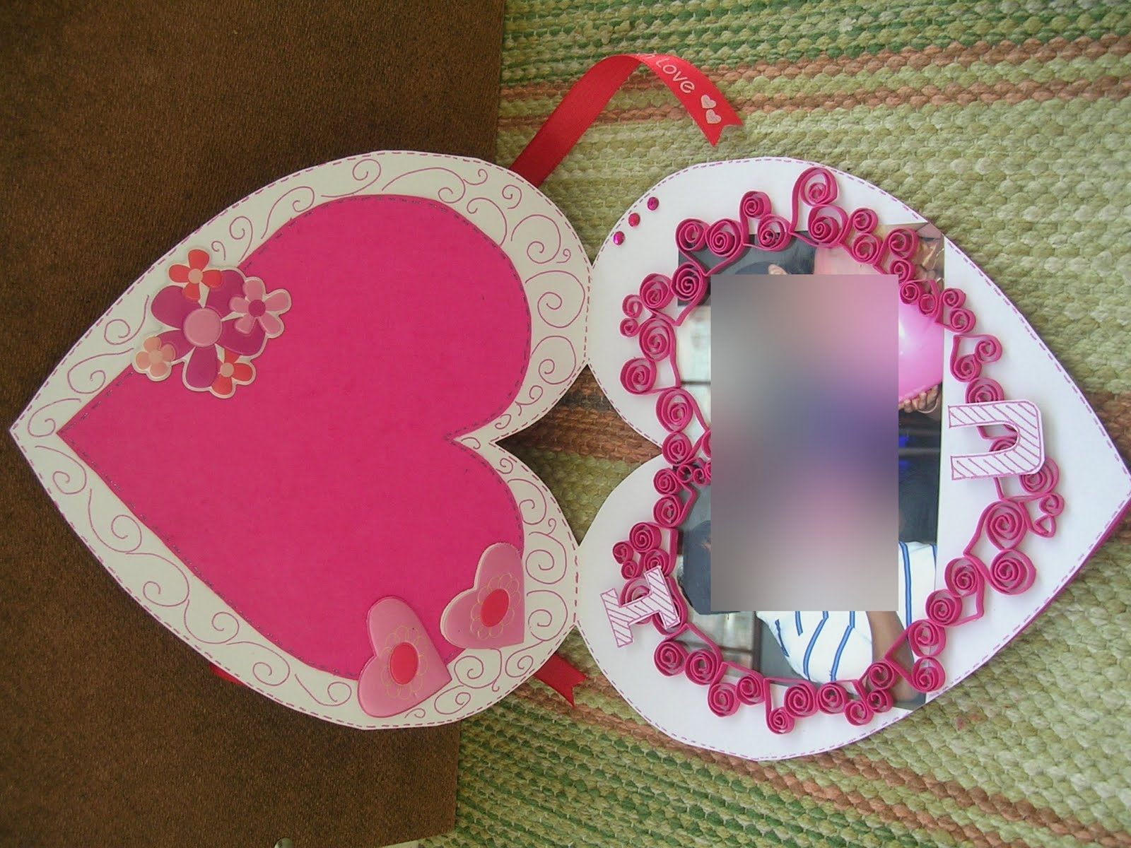 Vishesh Collections Handmade By Deepti Heart Shaped Card