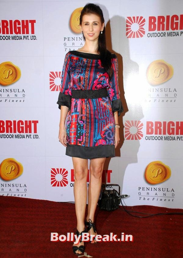 Claudia Ciesla, Ranbir, Hrithik at Bright awards 2014