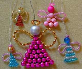 make an angel with beads and wire