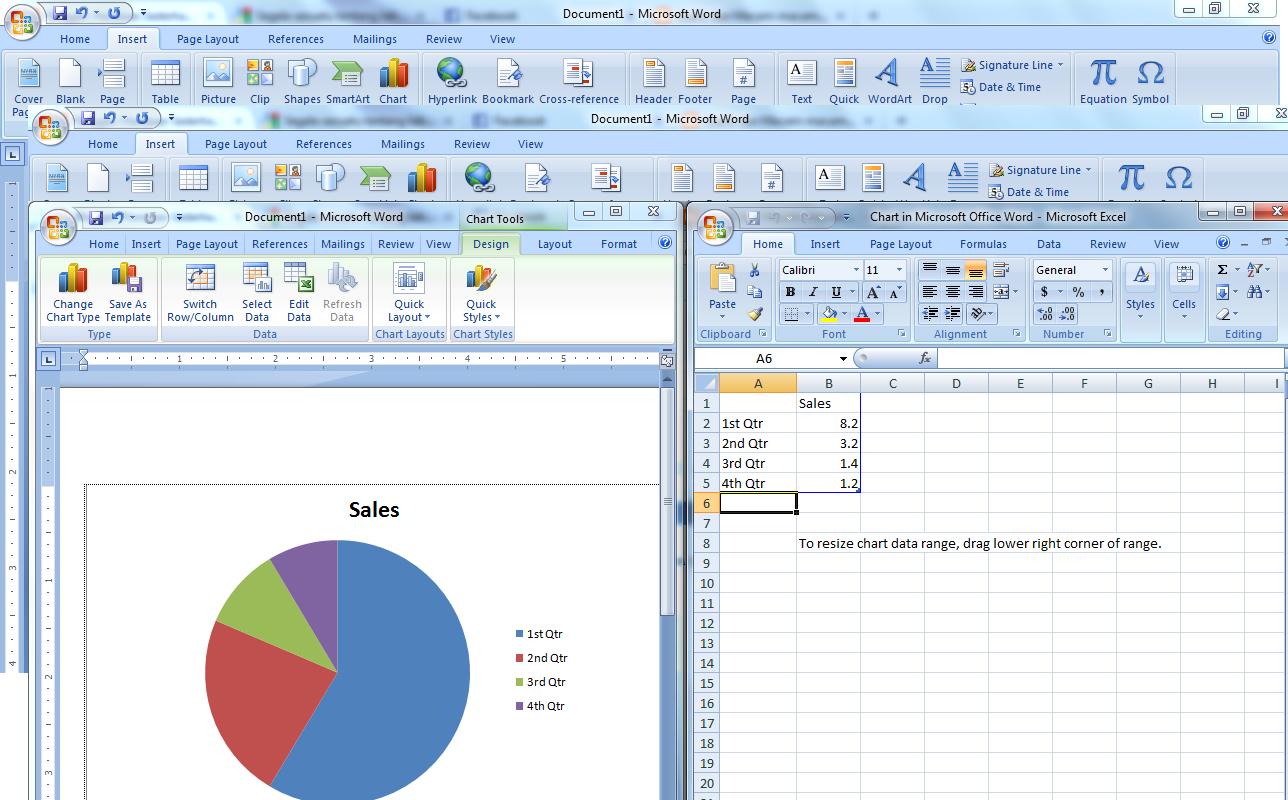 Panduan Sederhana Microsoft Office 2007 Cara Membuat Grafik Lingkaran Di Microsoft Office Word 2007