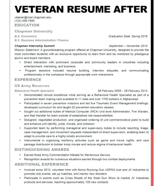 Military Veteran Resume Examples 2019 - Lebenslauf Vorlage Site