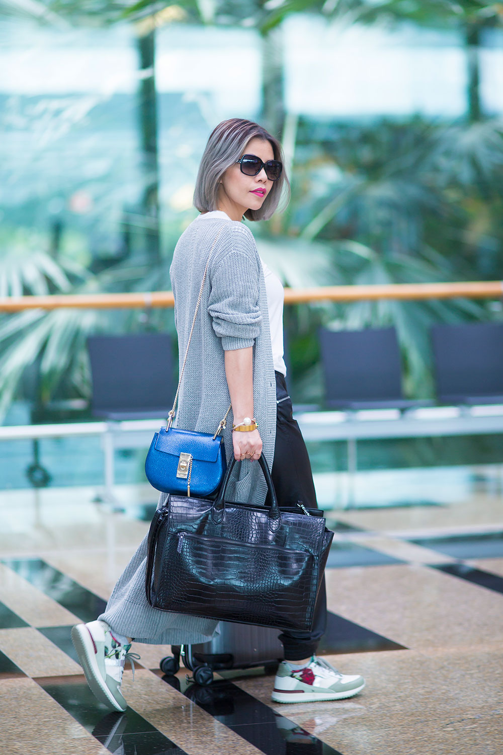 Crystal Phuong- Singapore Fashion Blogger- Airport chic