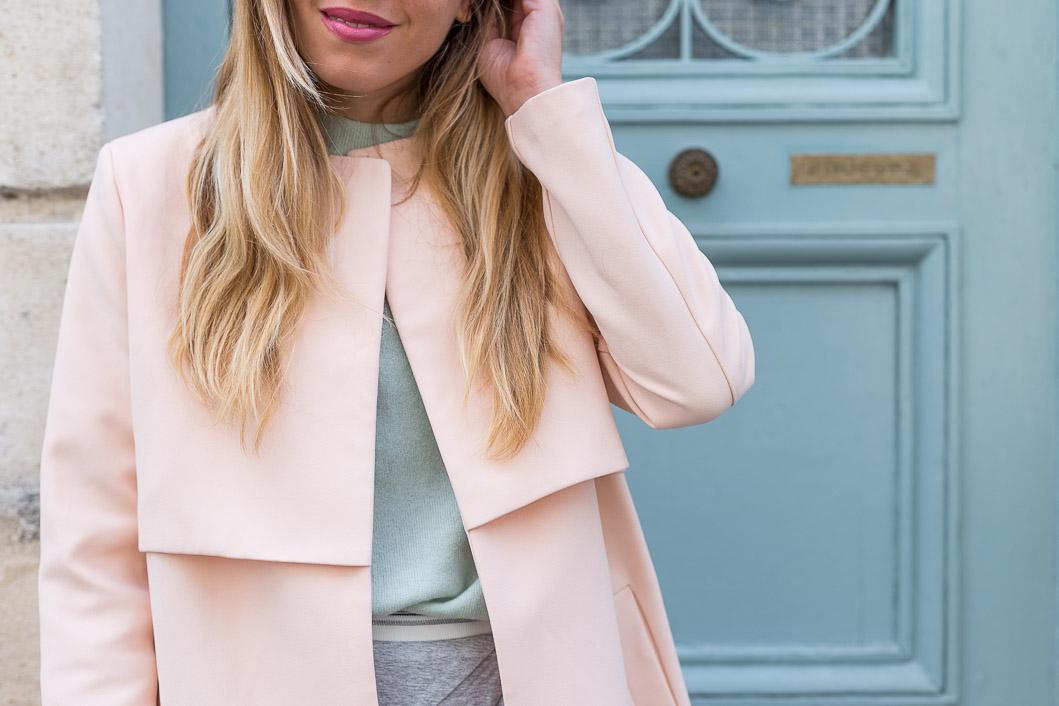 Manteau rose pastel la redoute