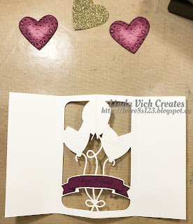 Linda Vich Creates: January Stamping Projects with A Modified Use of the Balloon Pop-Up Framelits. The Balloon Pop-Up Framelits die cut is modified to create a pop-up Valentine Balloon Bouquet card.