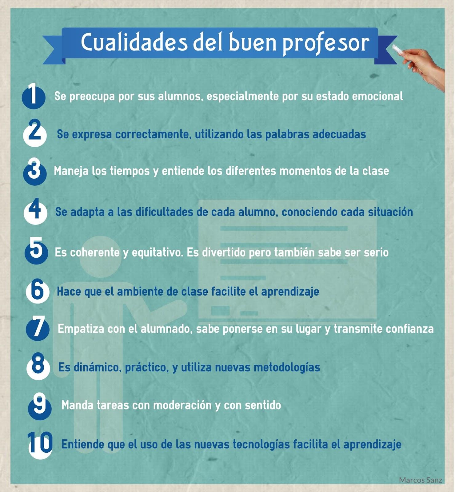 metodocondes  cualidades del un buen profesor