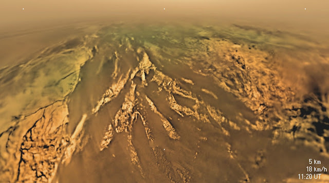 imagens reais da superfície de Titã