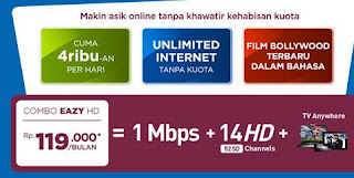 Combo EAZY FirstMedia FastNet 1 Mbps