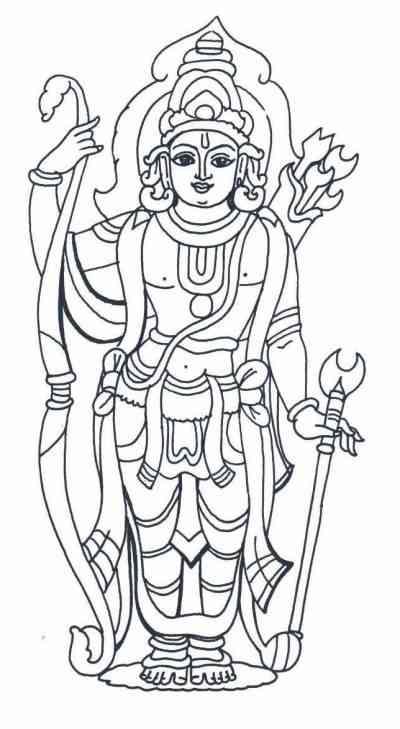 Sri lakshmi narasimhar hindu god pictures printable for for Hindu gods coloring pages