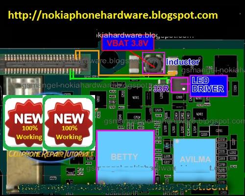Nokia Phone Hardware  Nokia 6600i Lcd Display Backlight