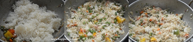 Step 3 - Vegetable Fried Rice Recipe   How to make restaurant style Veg Fried Rice