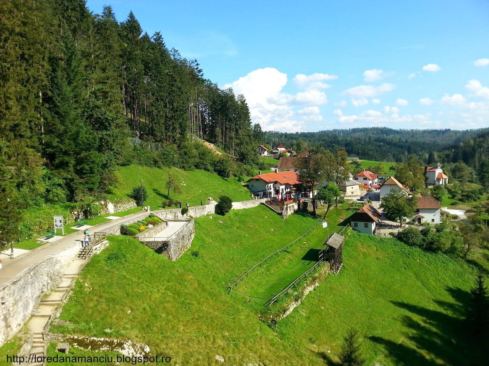 amazing view from Predjama Castle, Slovenia