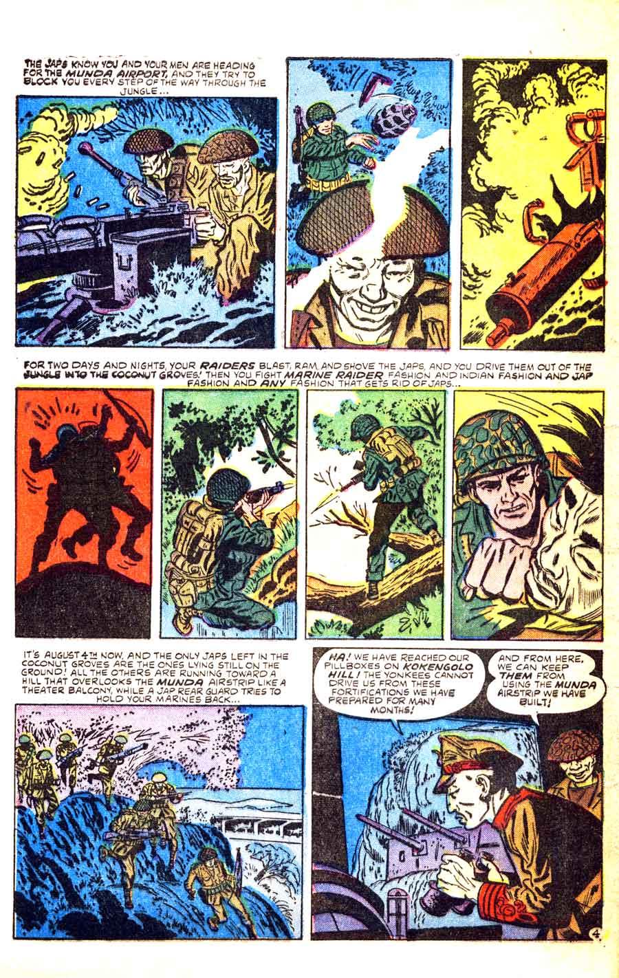 Joe Kubert golden age 1950s atlas war comic book page - Marines In Battle #8