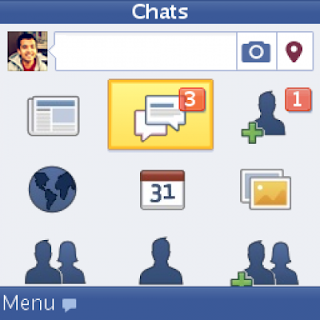 Giao diện của facebook cho java